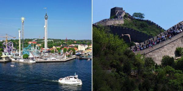 Что круче: шведский парк или китайская стена?
