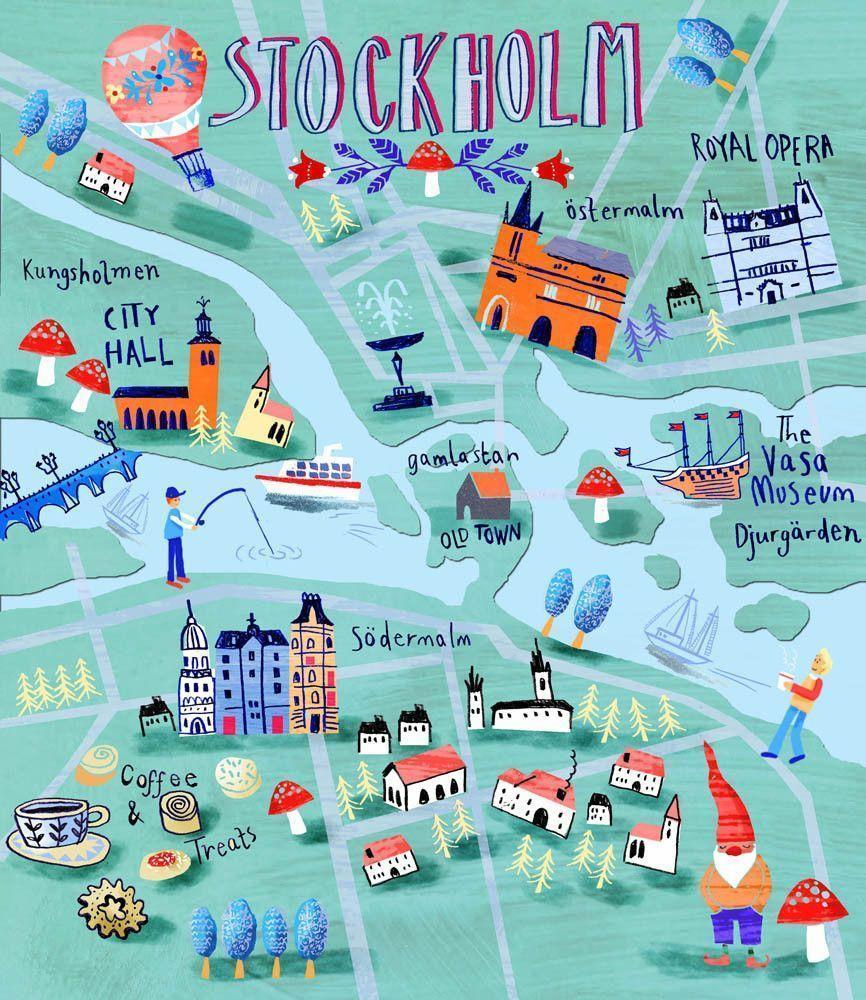 Туристическая карта Стокгольма